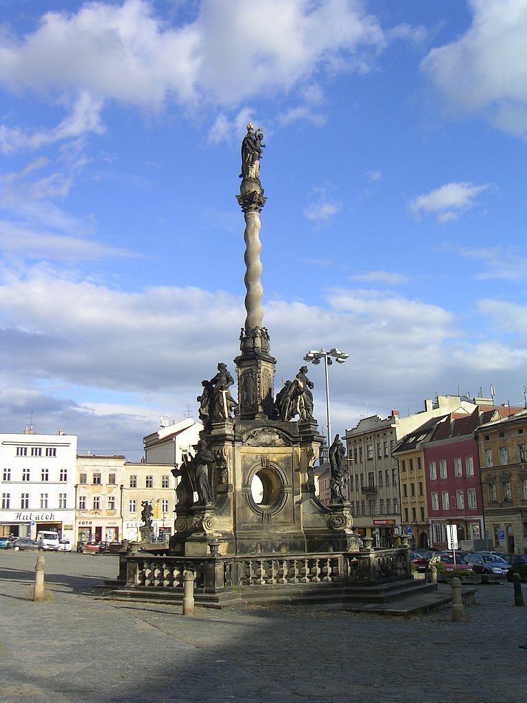 Mariánský sloup na Dolním náměstí v Olomouci